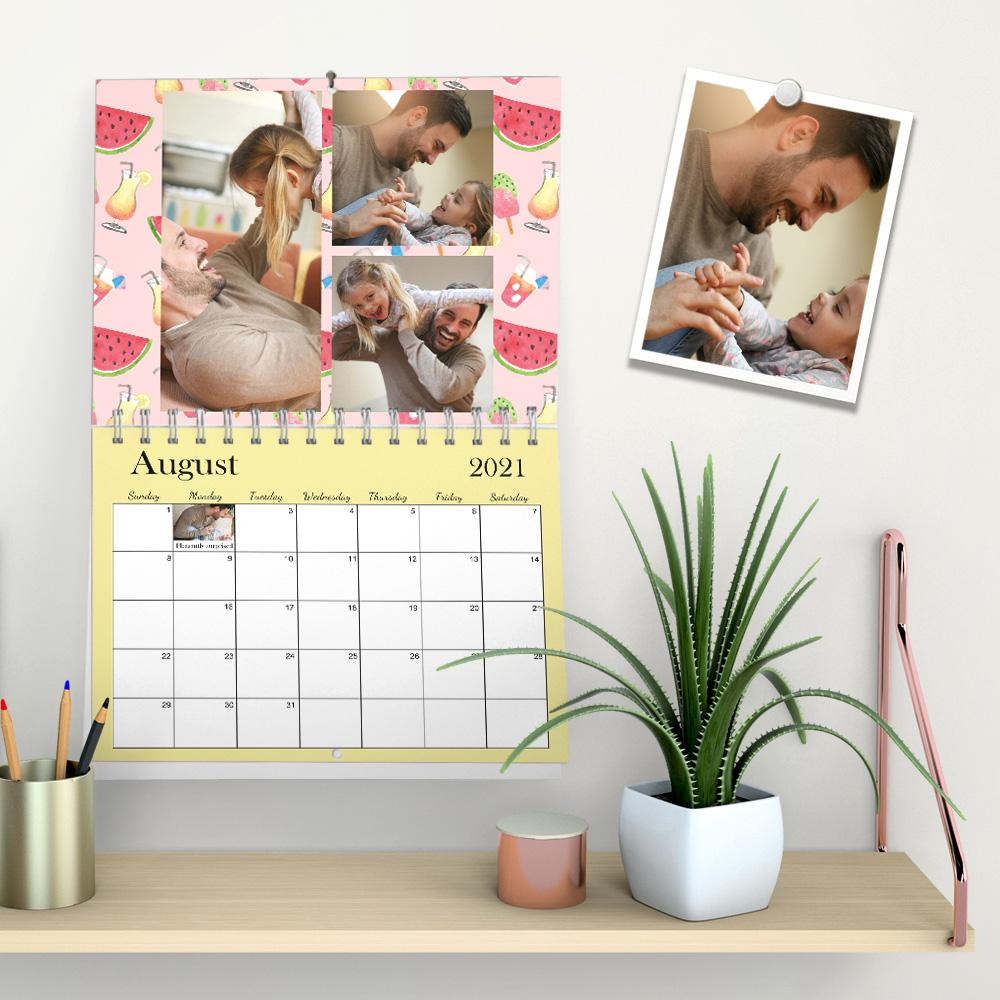 Custom Photo Gallery Wall Calendar Record Warm Moments Gifts for Family