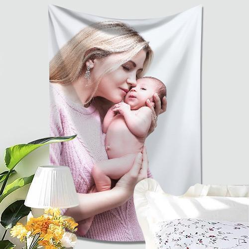 Customized Photo Tapestry Short Plush Wall Decor Hanging Painting Family Gift