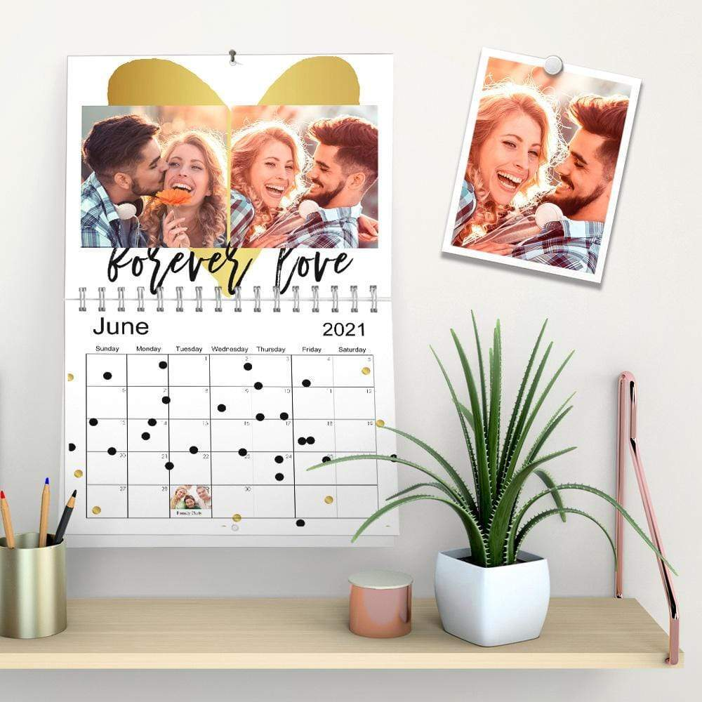 Custom Photo Gallery Wall Calendar Album Calendars Gifts for Lover