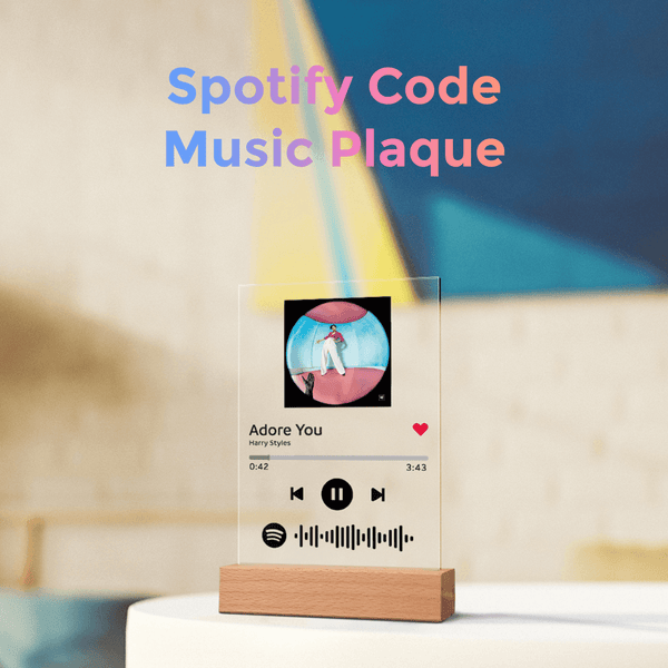 Custom Spotify Code Lamp Acrylic Music Plaque Spotify Glass ( 5.9IN X 7.7IN)