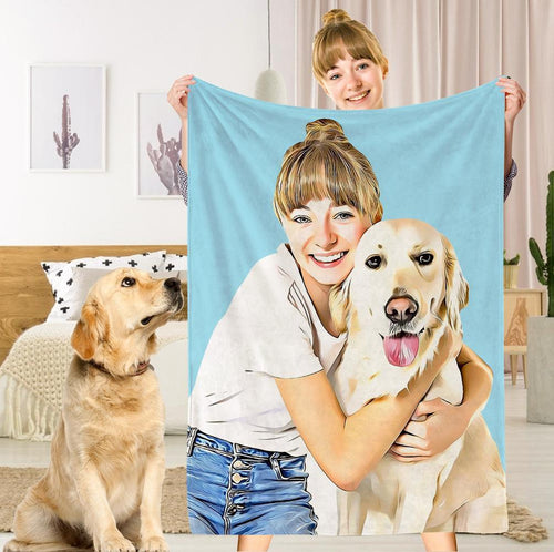 Custom Pets Dog Photo Fleece Blanket Personalized Fleece Blanket Memory Gift