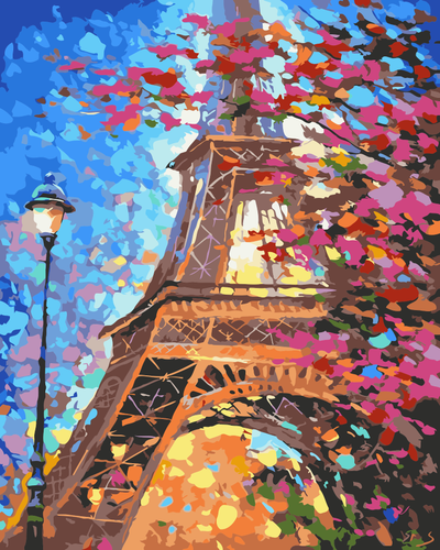 The Eiffel Tower in Moonlight DIY Paint By Numbers Kits