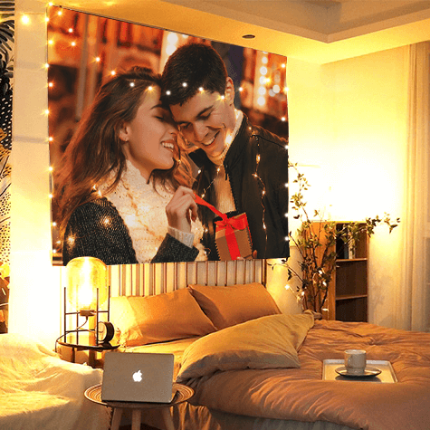 Custom Couple Photo Tapestry  Wall Decor Hanging Painting