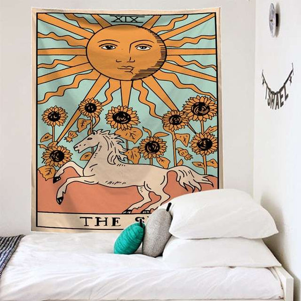 Tarot Tapestry The Sun Series Wall Decor Hanging Tapestry