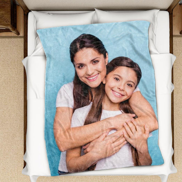 Custom Photo Blanket Best Gift for Mom