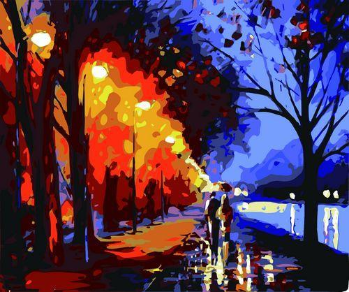 Landscape Paint By Numbers Kits Romantic Park Paint By Numbers
