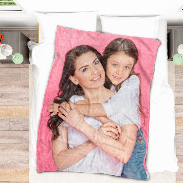 Custom Photo Blanket Mother's Day Gift
