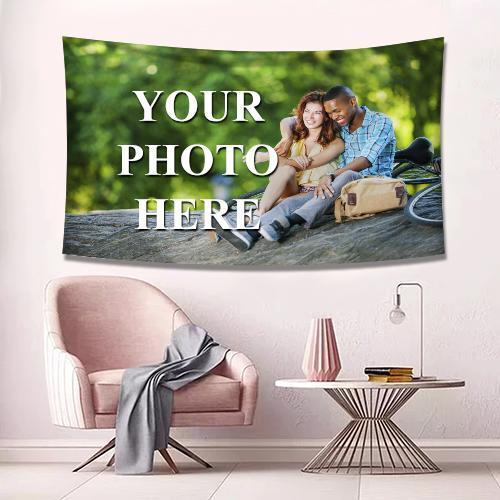Custom Photo Tapestry Wall Decor Personalized Hanging Painting