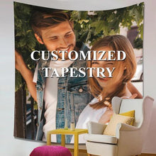 Anniversary Gift  Custom Photo Tapestry Short Plush Wall Decor Hanging Painting