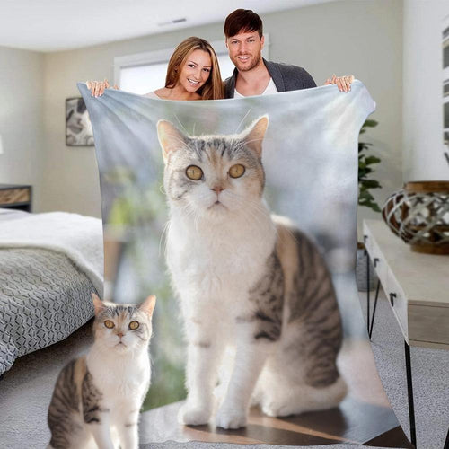Custom Photo Blanket Personalized Pets Photo Fleece Blanket