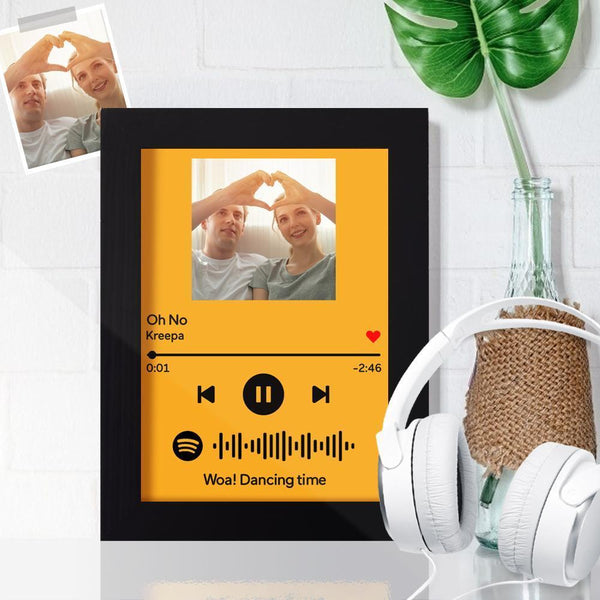 Custom Spotify Code Frame Personalized Music Frame Gift for Her