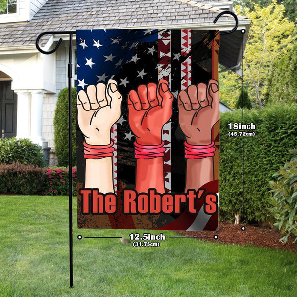 Custom Garden Flag Anti-Racial Discrimination With Your Text Garden Flag (12.5in x 18in)