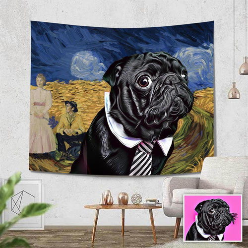 Pet Photo Tapestry Wall Art Home Decor Hanging Painting