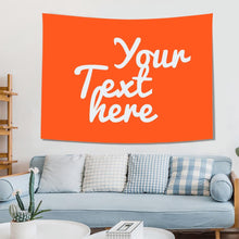 Custom Text Tapestry Wall Art Home Decor Gift for Family