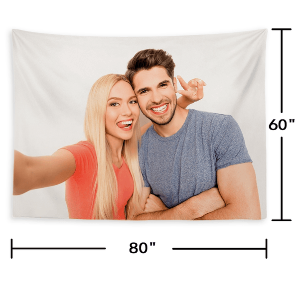 Custom Photo Tapestry Short Plush Wall Decor Hanging Painting Gift for Kids