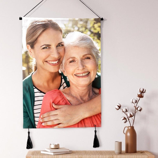 Mother's Day Gift Custom Photo Tapestry Hanging Canvas Prints