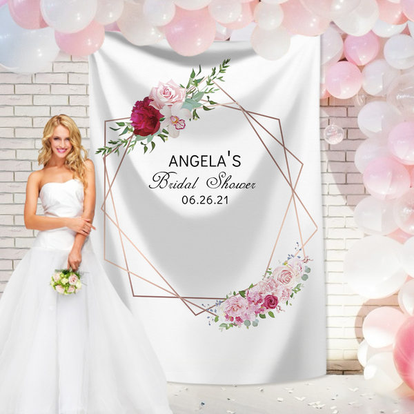 Custom Wedding Tapestry  Backdrop Personalized Text Tapestry Wall Decor
