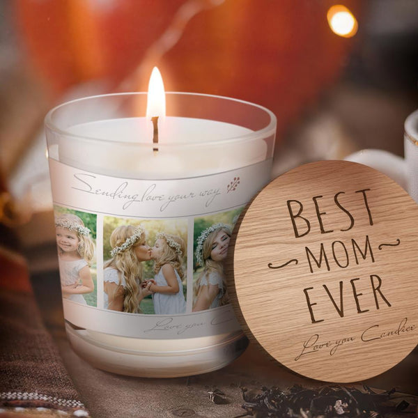 Best Mom Ever Strong Scented Candles Wax Eco-friendly Natural And Vegan Home Fragrance Forest Fragrance Candles Gift for Mother