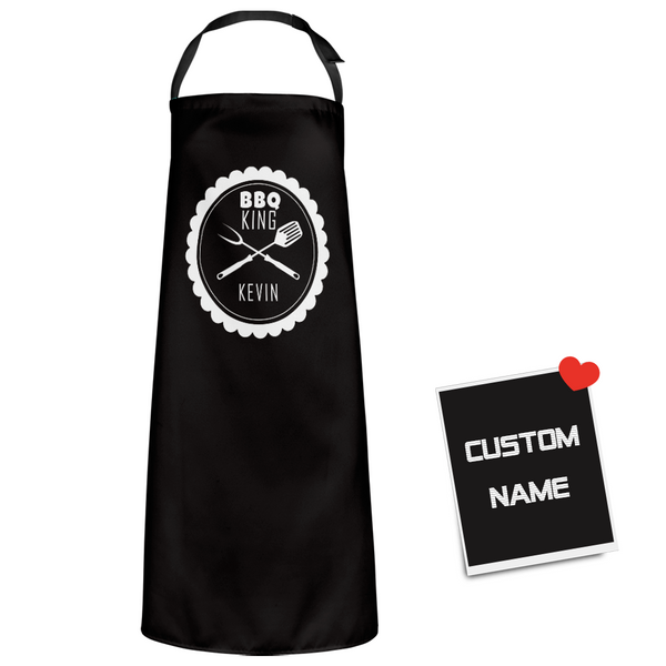 Custom Name Apron - BBQ KING