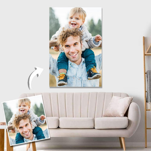 Custom Photo Wall Decor Canvas Family Gift For Dad