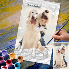 Custom Photo DIY Paint By Numbers Kits 36 Colors - 30*50cm