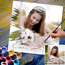 Custom Photo DIY Paint By Numbers Kits 24 Colors - 40*40cm