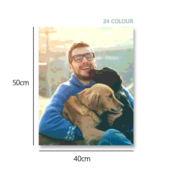 Custom Photo DIY Paint By Numbers Wall Decor 24 Colors - 40*50cm