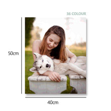 Custom Photo DIY Paint By Number Kits 36 Colors - 40*50cm