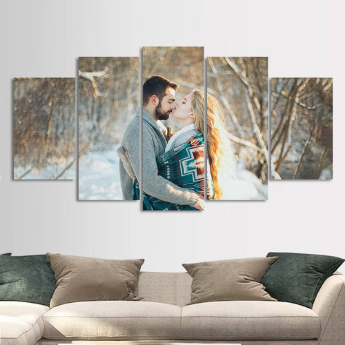 Custom Couple Photo Painting 5pcs Contemporary Unique Gifts