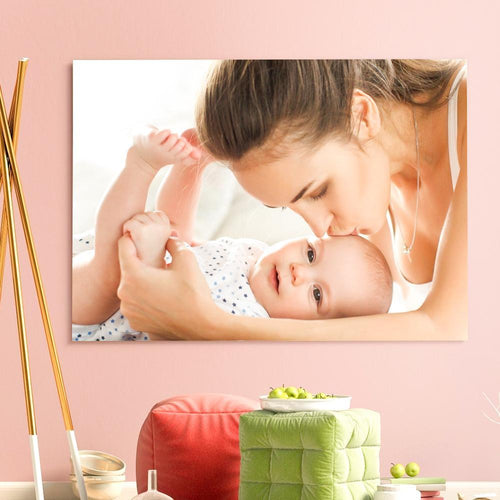 Mother's Day Gift Custom Photo Canvas Prints With Frame Family Photo Home Decoration
