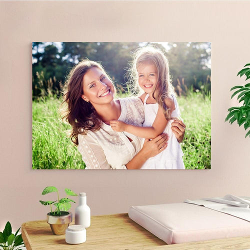 Gift for Mom Custom Photo Canvas Prints With Frame Family Photo Home Decoration