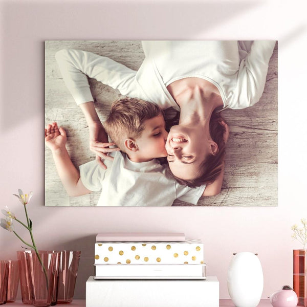 Custom Photo Canvas Prints With Frame Family Photo Home Decoration Best Mother's Day Gift