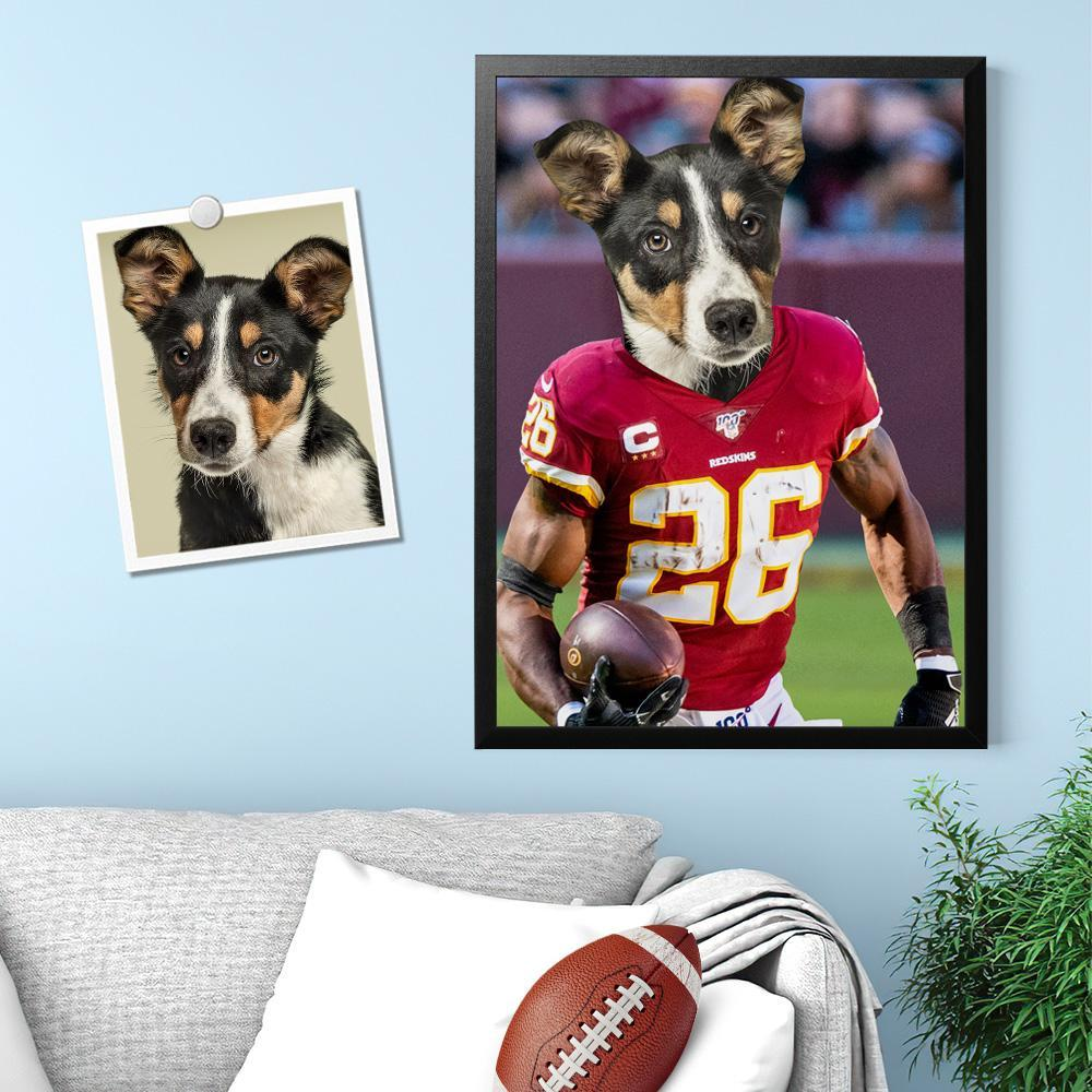 Custom Super Bowl Pet Portrait Canvas Custom Wall Art Home Decor No.26 Jersey