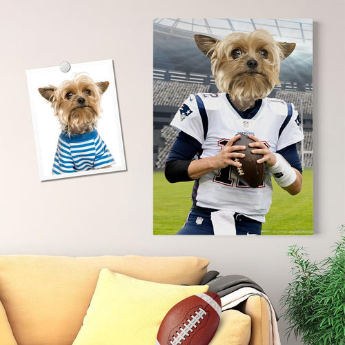 Custom Super Bowl Pet Portrait Canvas Custom Wall Art Home Decor