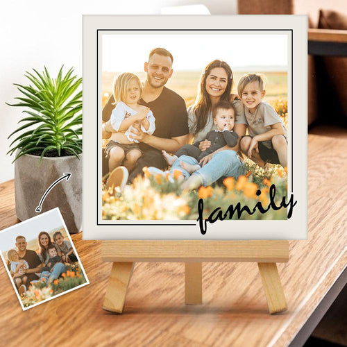 Custom Family Frame Tabletop Canvas Print Gift for Family
