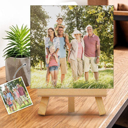 Custom Photo Gallery Tabletop Canvas Print Gift for Family