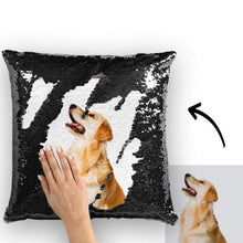 Custom Photo Magic Sequins Pillow Black Color Sequin Cushion Unique Gifts 15.75inch * 15.75inch