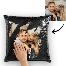 Custom Love Photo Magic Sequins Pillow Multicolor Sequin Cushion 15.75inch*15.75inch