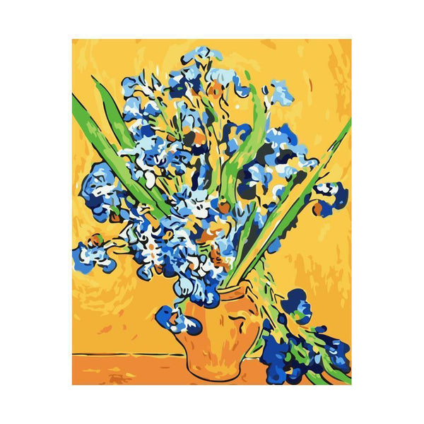 "Van-Gogh Irises - DIY Paint by Numbers Kit - 16""x20"""