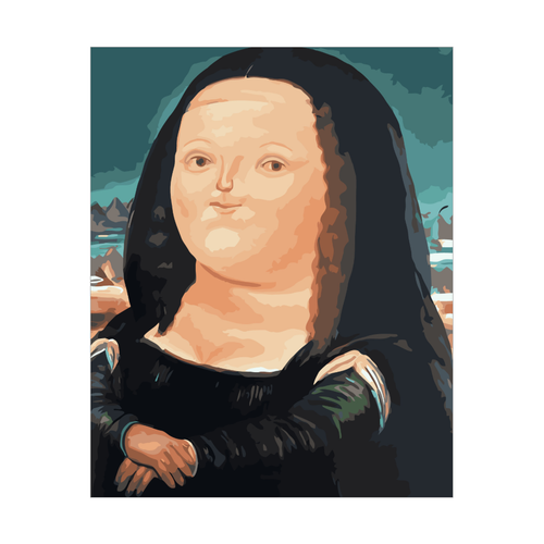 Cute Monalisa - DIY Paint by Numbers Kit - 16