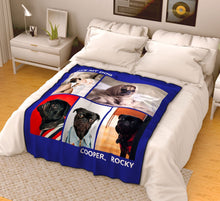 Personalized Pets Fleece Photo Blanket with 5 Photos
