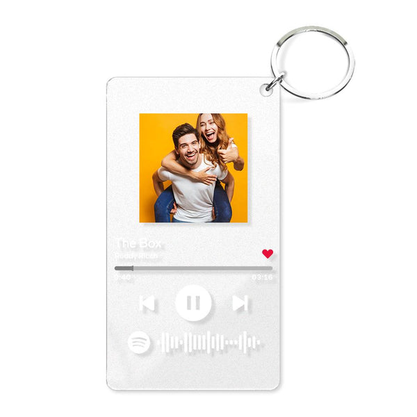 Spotify Glass Custom Scannable Keychain Spotify Code Music Plaque Keychain s ( 2.1IN X 3.4IN )