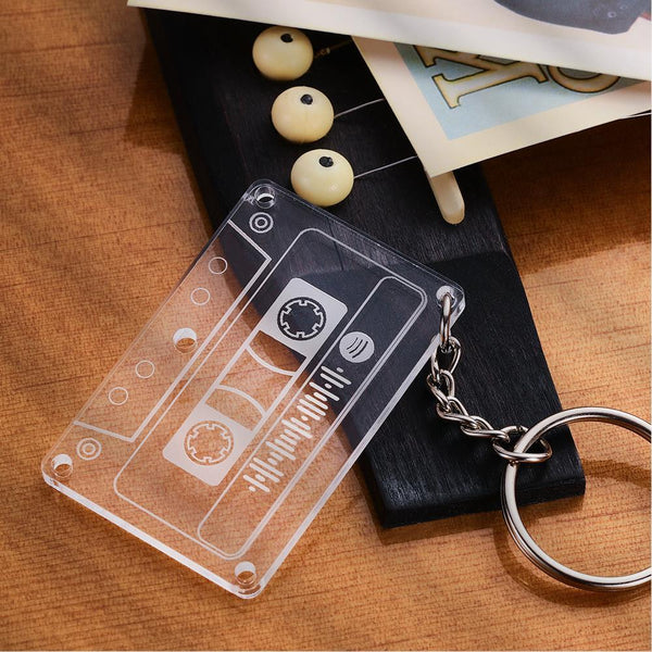 Spotify Code Mixtape Keychain Custom Music Plaque