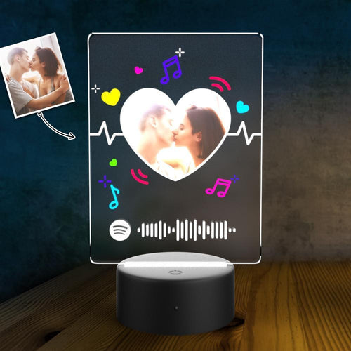 SPOTIFY Acrylic 3D Lamp Plaque Set Personalized Night Light