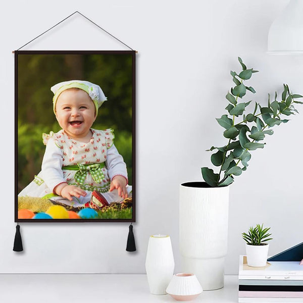 Custom Photo Tapestry Hanging Canvas Prints Gift for Family
