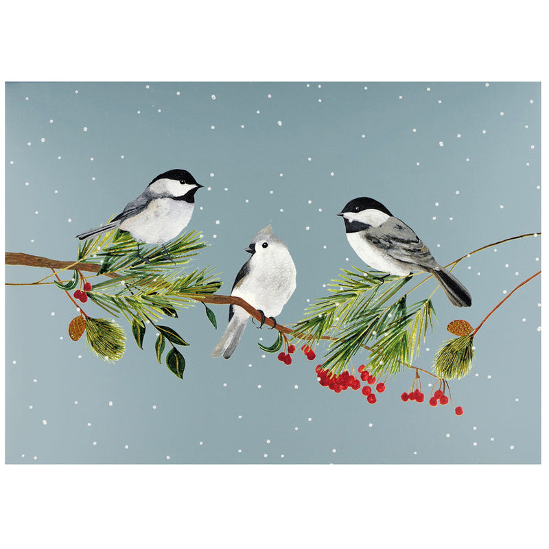 PP 20 Deluxe Boxed Christmas Cards Birds and Boughs