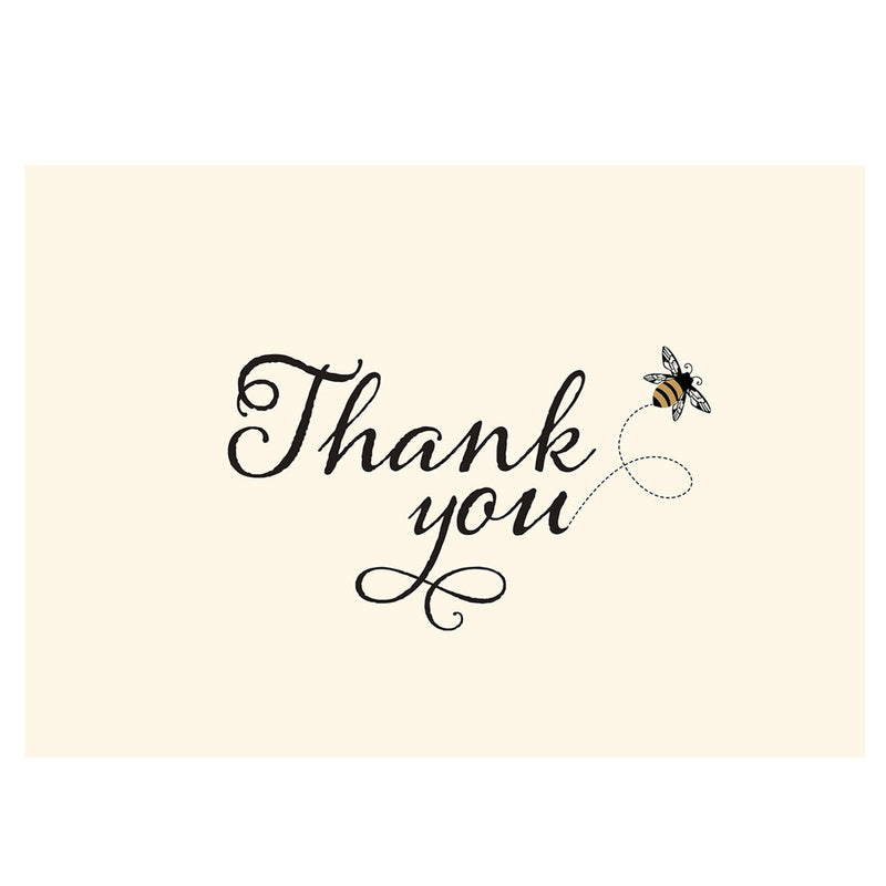 Thank You Note Cards Bumble Bee