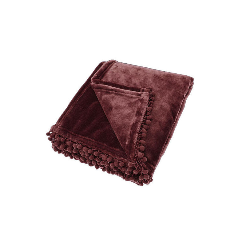 Walton & Co Cashmere Touch Fleece Throw Blackberry