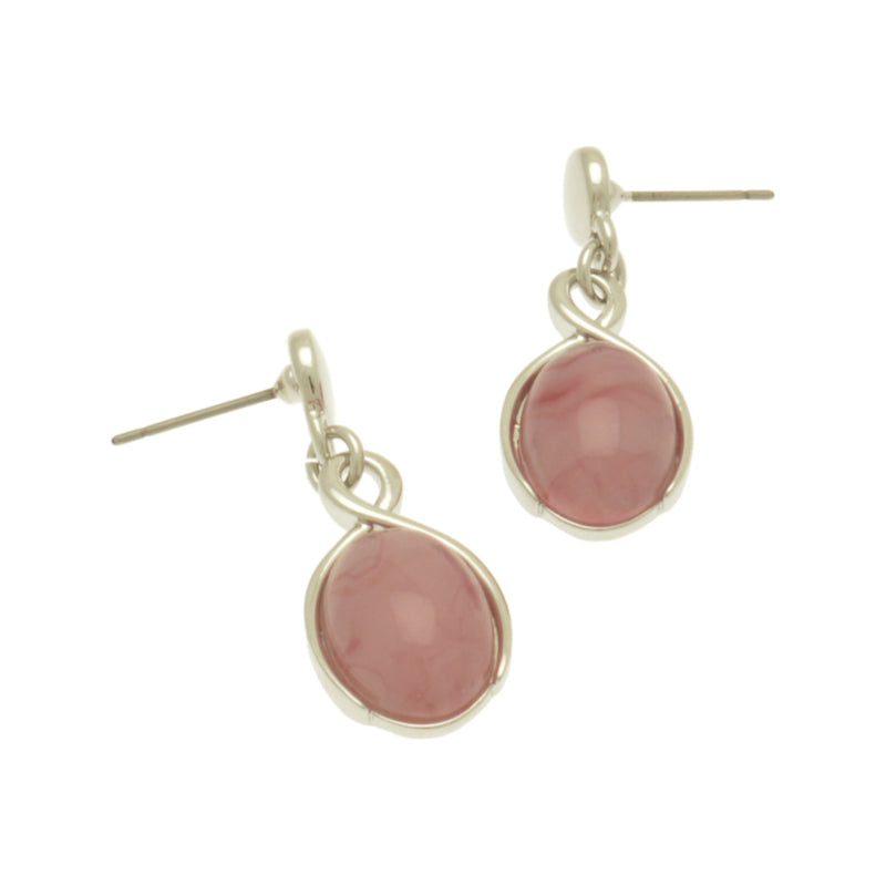 Pink Marbled Earrings