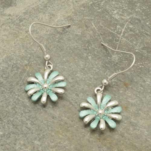 Mint Daisy Earrings